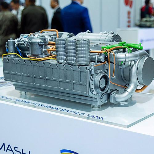 3Д печать макета двигателя 6ТД