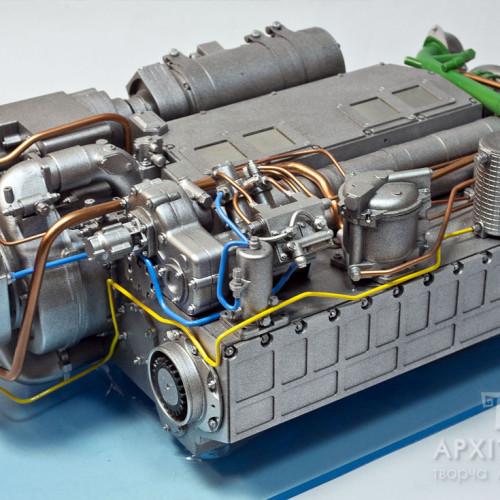 3Д печать макет двигателя 6ТД , Киев