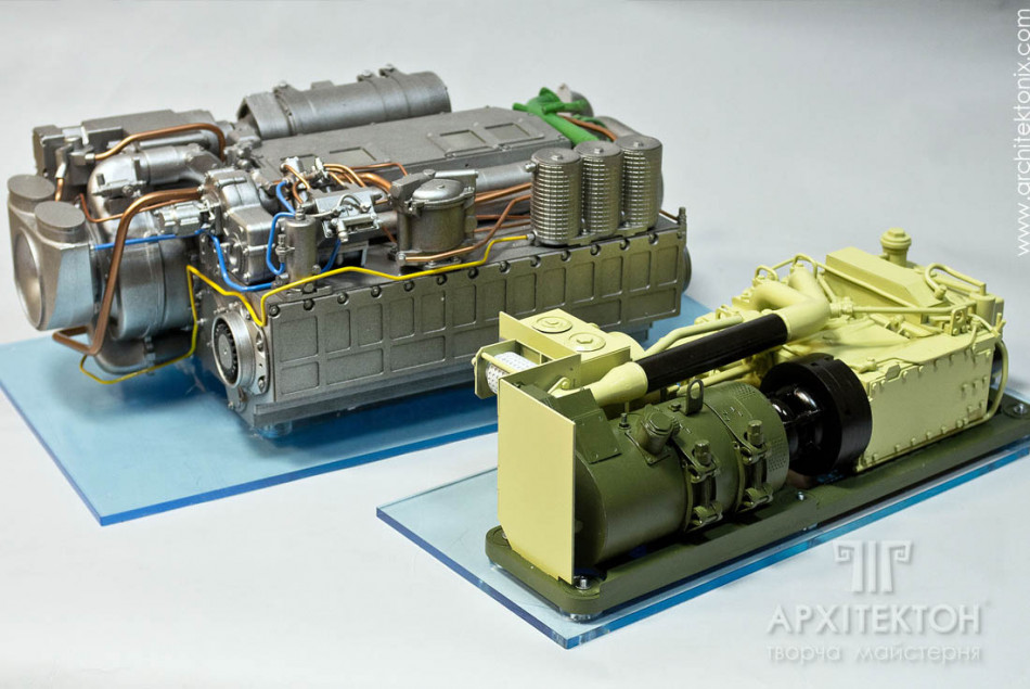 3D model of the 3DT engine to order Kiev
