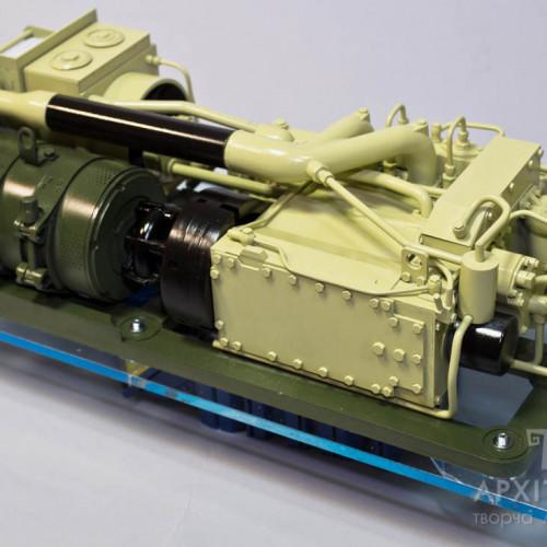 3Д макет двигателя