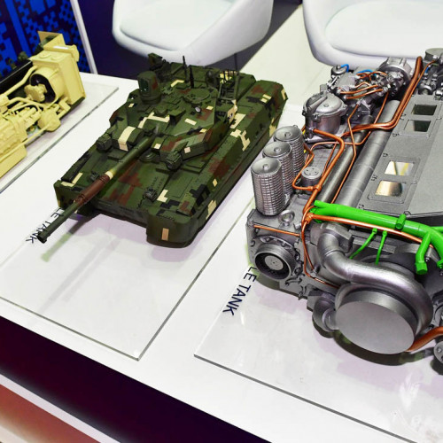 Engine models at the exhibition MSPO