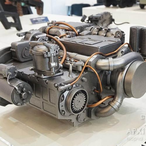 3Д макет двигателя 3ТД