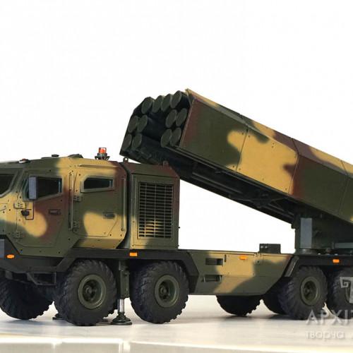 "custom made еxhibition model of the launcher system ""Vil'kha "", scale 1/35, Kyiv"
