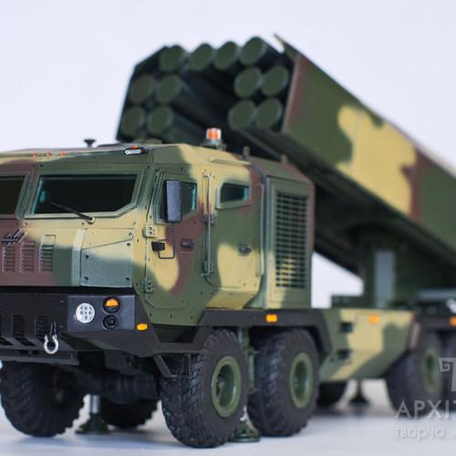 3D printing еxhibition model of the MLRS Vil'kha in Kiev, Ukraine
