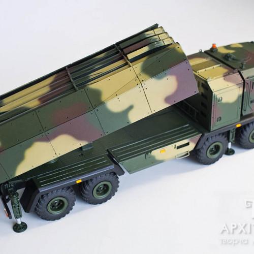 Выставочный макет пусковой установки системы Ольха, масштаб 1/35, Киев
