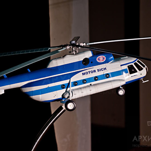 Custom model of the Mi-8MSB helicopter