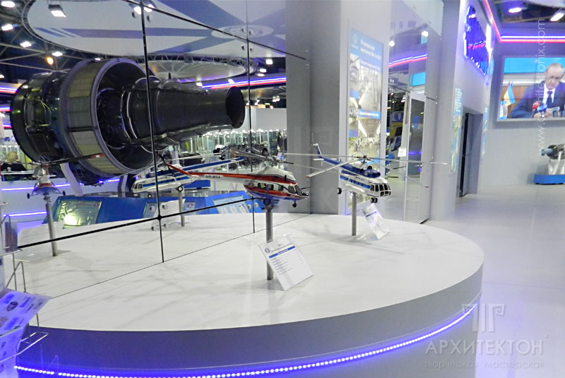 1:20 scale Model of the Mi-8MSB at the exhibition MAKS - 2013, Russia