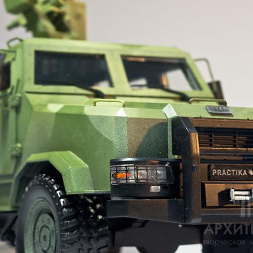 3D друк масштабної моделі броньованого автомобіля на замовлення
