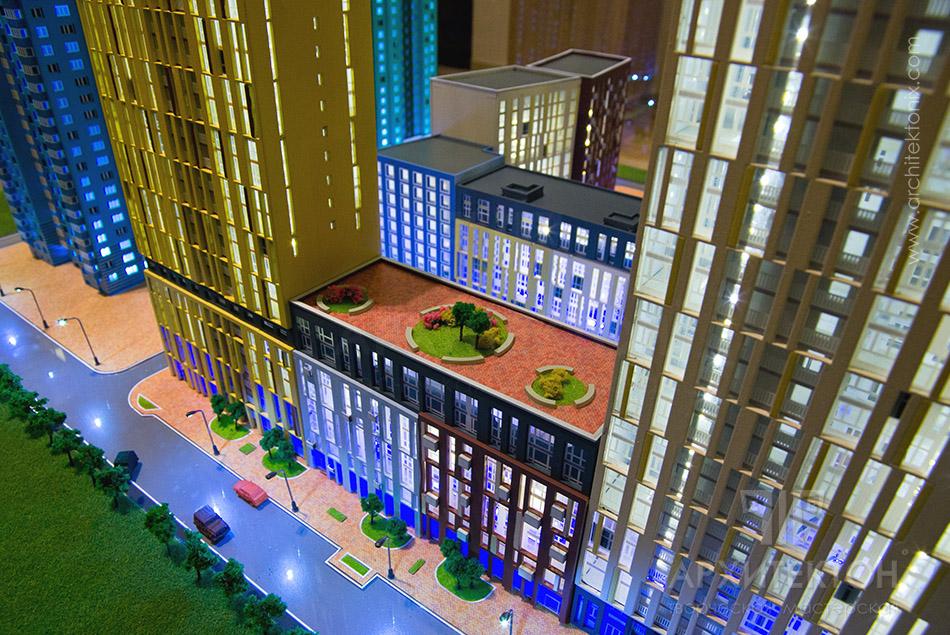Архітектурний макет житлового комплексу в Києві