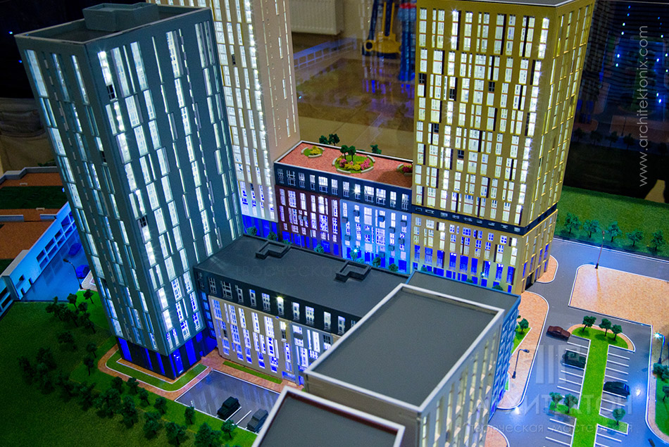 Custom made Architectural Model of residential complex