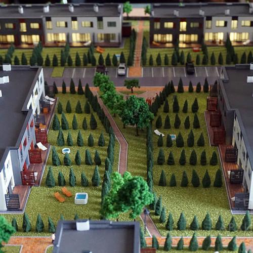 Архітектурний макет котеджного селища в Київській області