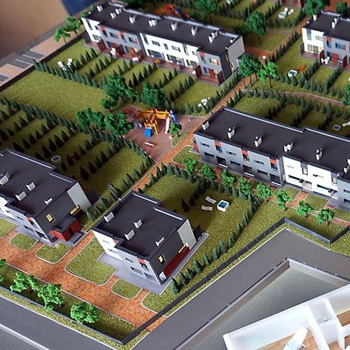 3d печать макета коттеджного поселка