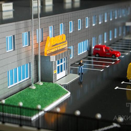 3D печать на заказ архитектурного макета торгово-офисного центра