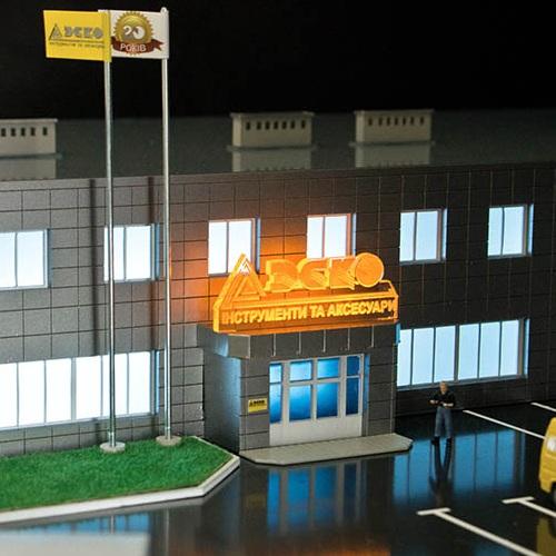 3Д печать макета  торгового комплекса  на заказ
