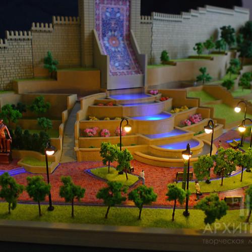 Architectural model of Heydar Aliyev Park in Kiev