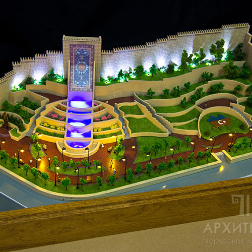 Architectural model of Park with illumination
