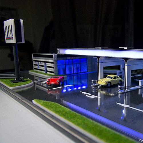 Архитектурное макетирование 3D   модели АЗС