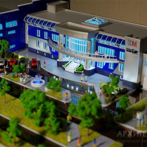 Архитектурный макет производственного комплекса