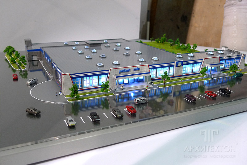 Scale 1:250 Architectural Model of trading complex