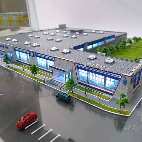 3D printing Architectural Model of trading complex