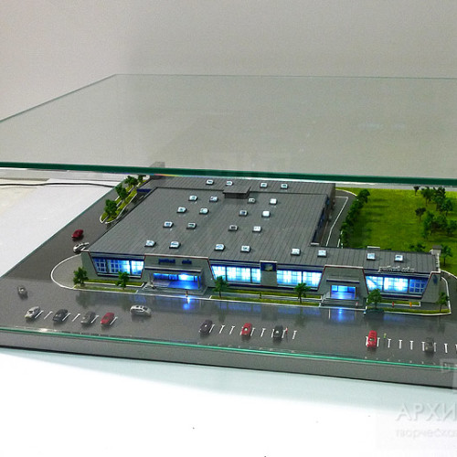 Custom made Architectural Model of trading complex