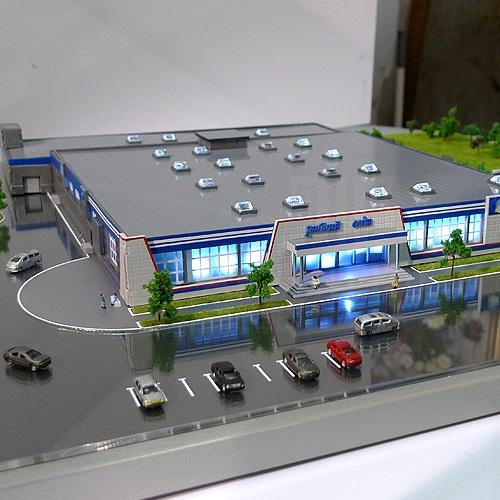 заказать 3D печать макета торгового комплекса