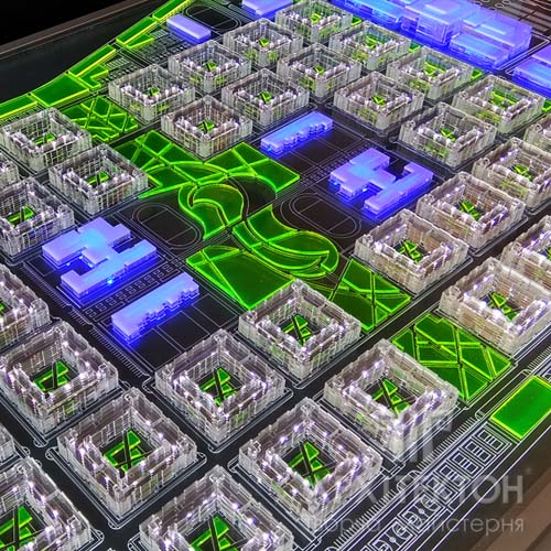 Містобудівний макет з прозорого акрилу
