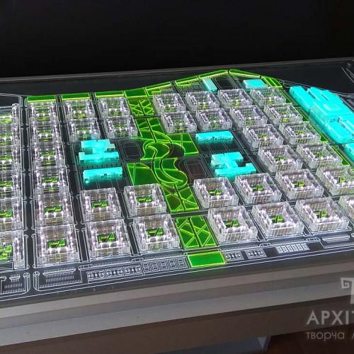 Urban Model  of transparent acrylic