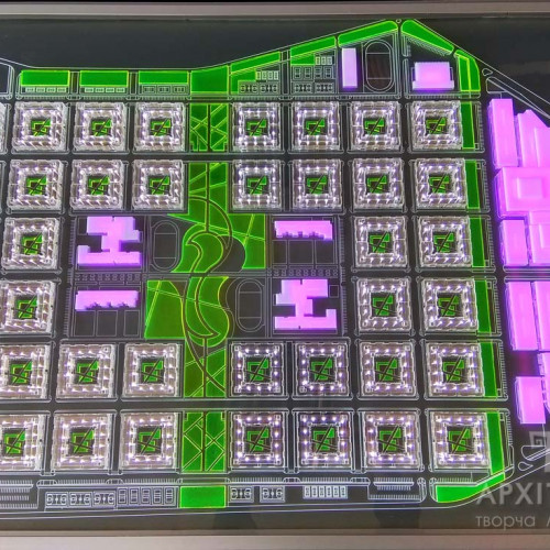 Дизайн архітектурного макета з прозорого акрилу