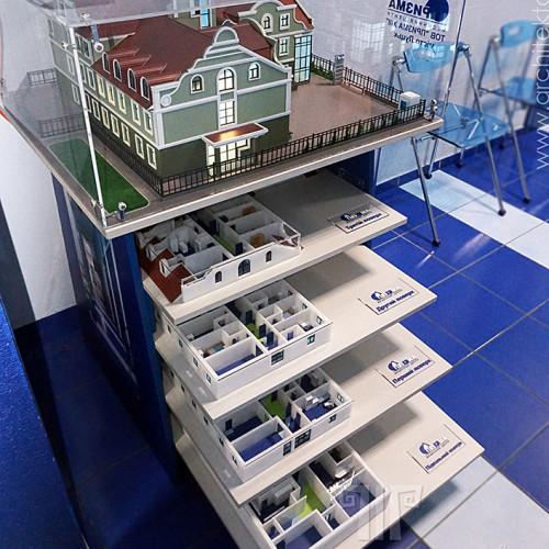 3D друк в Україні архітектурного макета з розрізом поверху