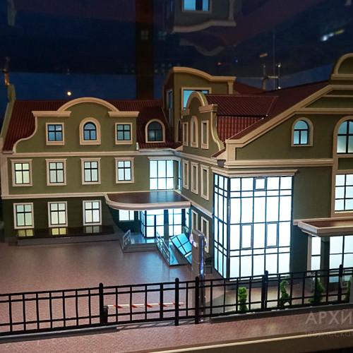 Архітектурний макета з підсвіткою