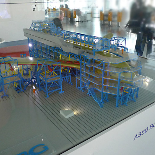 Макет сборочного цеха, завода Airbus