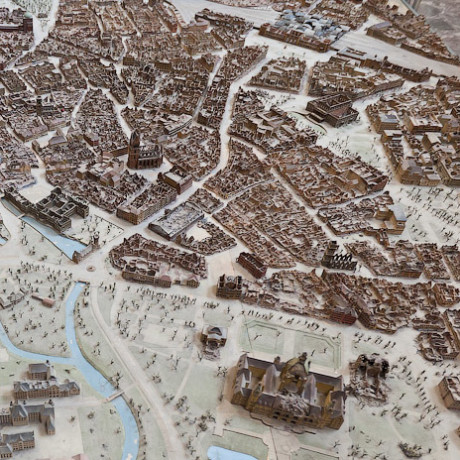 Макет Дрездена из бронзы