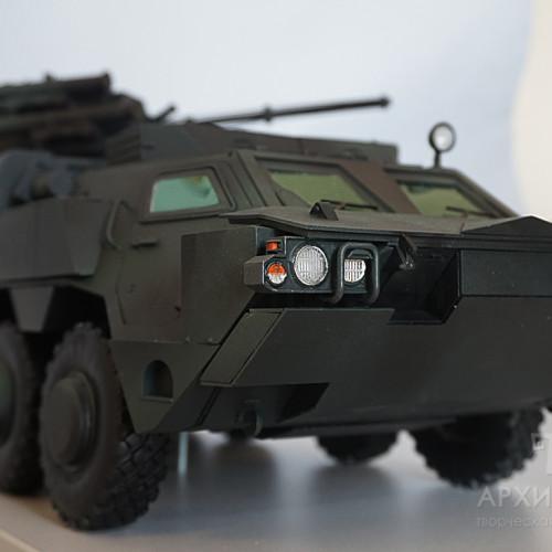 "Виготовлення масштабної моделі БТР-4, з бойовим модулем ""Парус"". Масштаб 1/15"