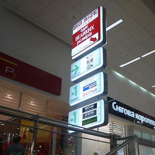 designing navigation systems for shopping complexes, train stations, airports, stadiums