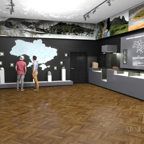 Проект залу музею, 3Д графіка