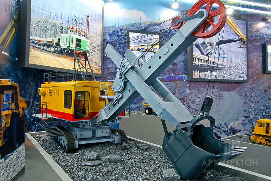 3d print model of a mining excavator for a museum