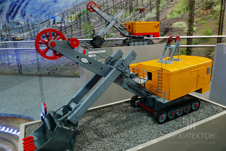 models of quarry equipment for the museum