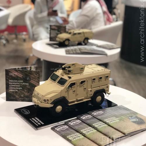 модели украинской военной техники на выставке EDEX-2018 в Египте