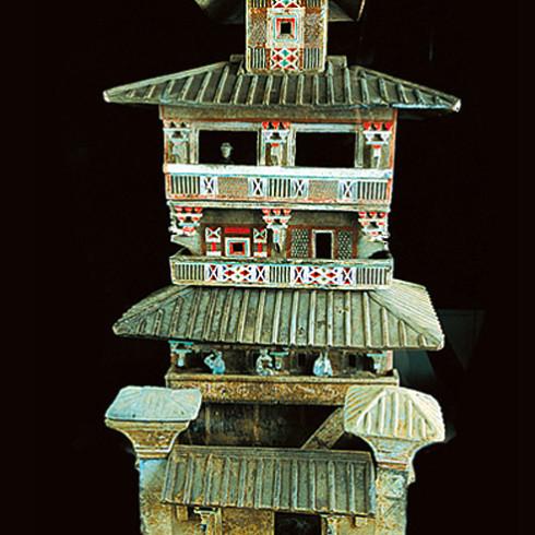Керамічний макет пагоди, періоду Хань