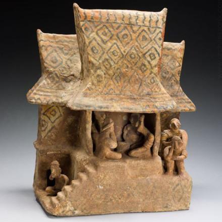 Макет будинку, обпалена глина. Наяріт, 100 до н. н.е.-. 300 н. е.