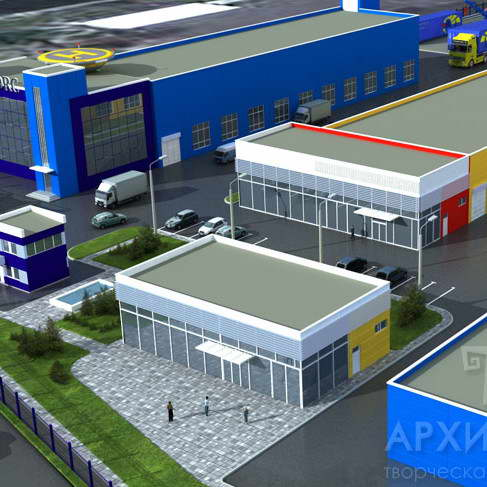 Architectural design of industrial complexes in Ukraine