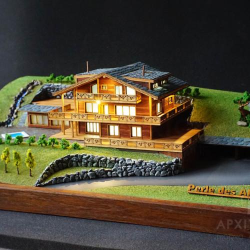 Архітектурний макет котеджу, масштаб 1/200