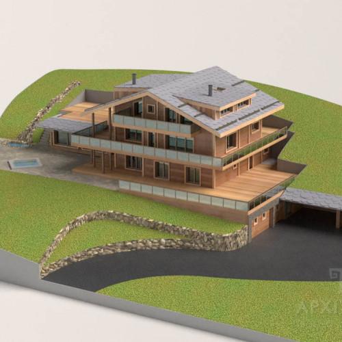 3Д визуализация проекта макета