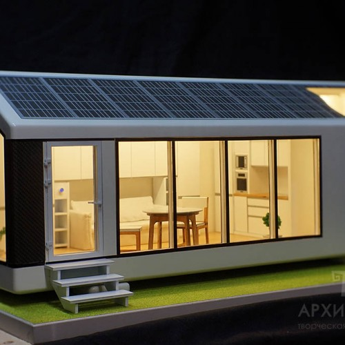 house Architectural model, scale 1/15