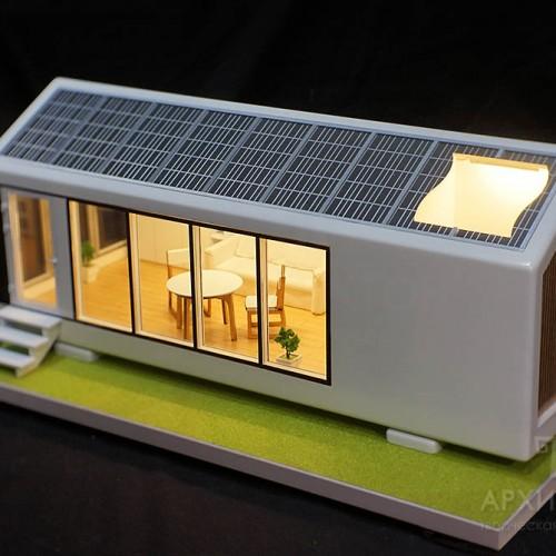 Архитектурный макет дома. Материалы: пластик, дерево
