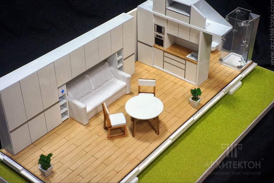 Макет интерьера дома с мебелью