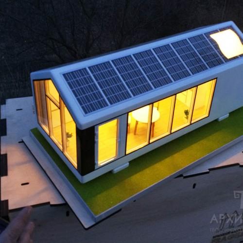 Изготовление макета дома с подсветкой, Киев