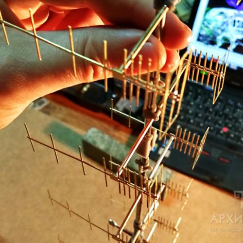 Сборка готових деталей 3D моделі