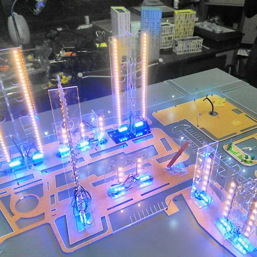 Установка кольорової світлодіодної підсвітки в макет